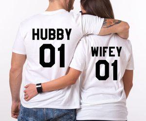 fashion, matching couples shirts, and couple goals image