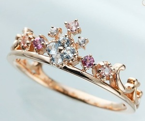 ring, diamonds, and gold image