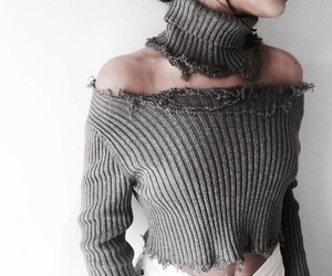 ribbed, fashion, and crop top image