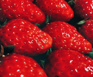 red, strawberry, and sweet image