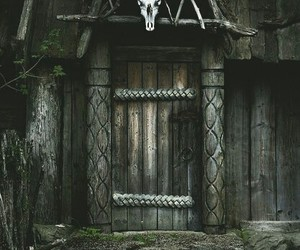 skull and house image