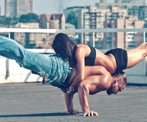 couple, motivation, and workout image