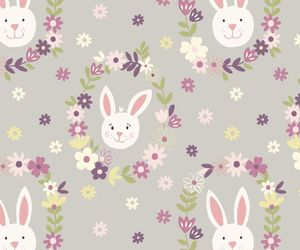 animal, background, and bunny image