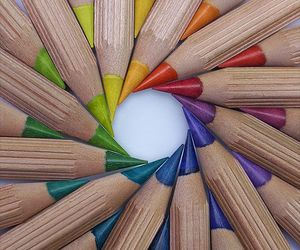 art, colored pencils, and colors image