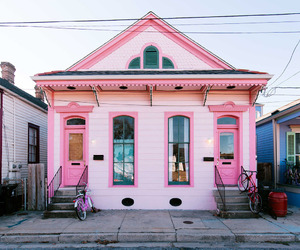 fun, house, and pink image