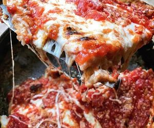 food, pizza, and tasty image
