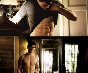 damon, tvd, and stefan image