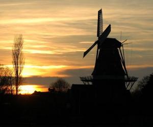 netherland, silhuette, and sunrise image