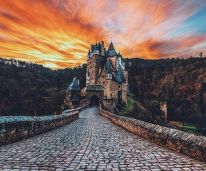 castle, sunset, and germany image