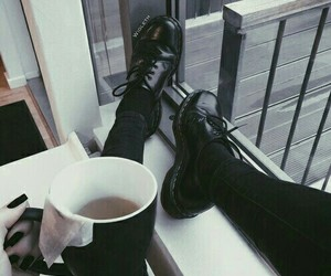 black, grunge, and coffee image