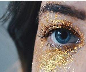 blue, glitter, and eyes image