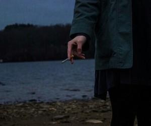 cigarrette, dark, and girl image