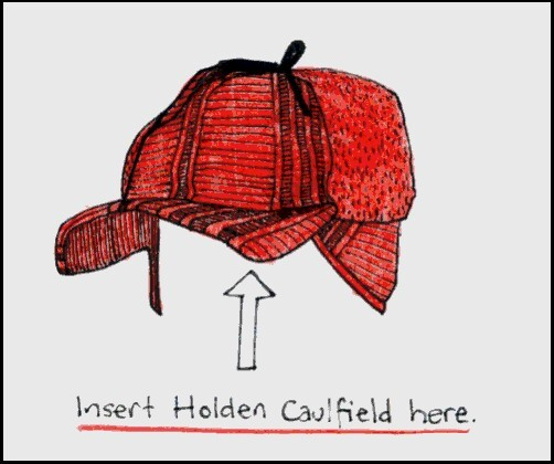 holden caulfield, hat, and the catcher in the rye image