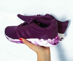 shoes, adidas, and purple image