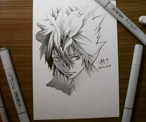 anime, vongola primo, and drawing image