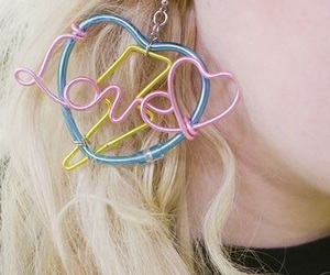 earrings, love, and blonde image