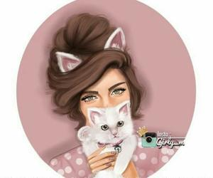 cat, girly_m, and drawing image
