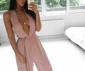 baby pink, jumpsuit, and style image