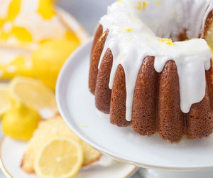 cake, dessert, and lemon image