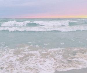 ocean, pastel, and beach image
