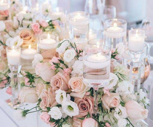 flowers, wedding, and candle image