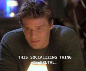 angel, antisocial, and buffy image