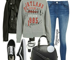 leather jacket, new look, and Polyvore image