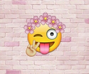 flowers, peace, and emoji image