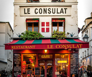 paris, france, and cafe image
