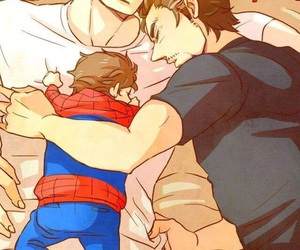 steve rogers, captain america, and iron man image