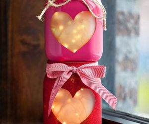 candle, hearts, and light image