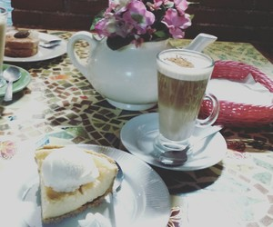 cafe, cofee, and postre image