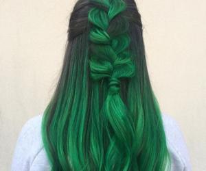 hair, green hair, and colored hair image
