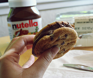 nutella, food, and cookie image