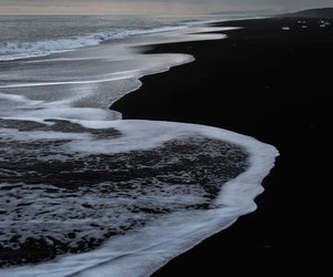 beach, black, and nature image