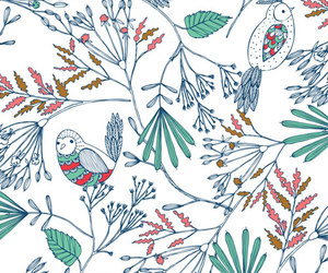 background, bird, and floral image