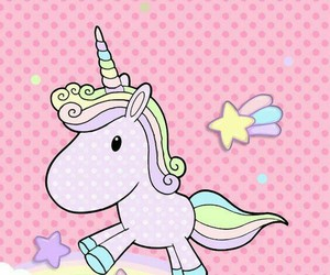 wallpaper, cute, and unicorn image