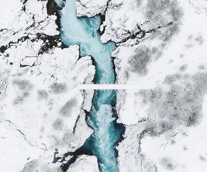 water, blue, and ice image