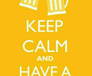 harry potter, butterbeer, and keep calm image