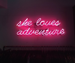 adventure, pink, and neon image