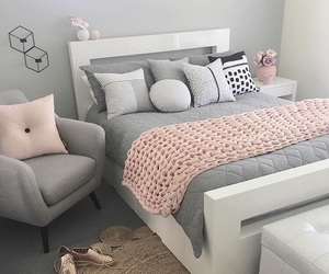 baby pink, bedroom, and decor image