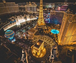 Las Vegas and lights image