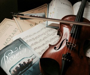 violin, music, and book image