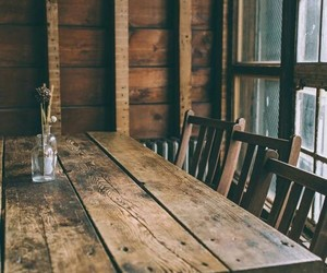 wood, table, and vintage image