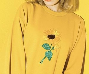 yellow, aesthetic, and sunflower image
