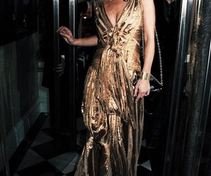 kate moss, dress, and gold image