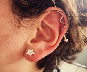 ear, nice, and piercing image