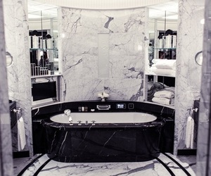bathroom, marble, and fashion image