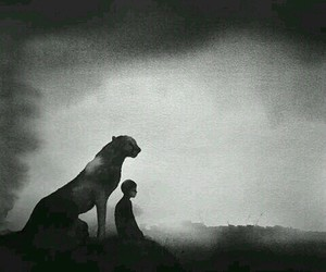 art, animal, and black and white image