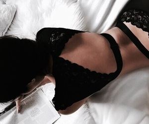 fashion, black, and lingerie image